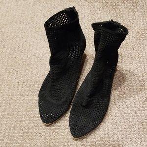 Black Jeffrey Campbell mesh booties